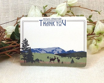 Mt Si \\ Flat A2 Wedding Thank You Notecard: Get Started Deposit