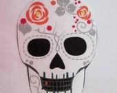 "Patch Iron On Skull 6"""