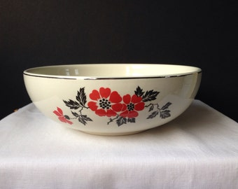 Hall's Superior Quality Kitchenware - Red Poppy - Serving Bowl - 9""