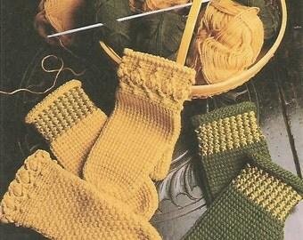 Afghan Crochet Mittens Crochet Pattern No 72 Instant Download