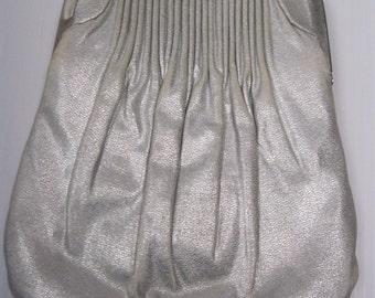 SILVER HL HANDBAG - Vintage Silver Handbag - Metallic Evening Bag