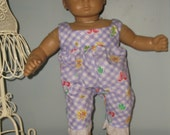 Bitty Baby sunsuit or rumper for 15 or 16 inch dolls by Project Funway on Etsy