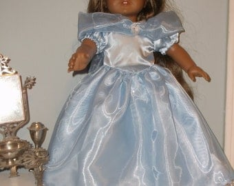 18 inch light blue princess Cinderella dress gown by Project Funway on Etsy
