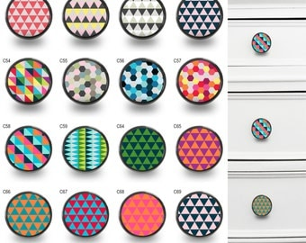 Geometric Pattern Cupboard Cabinet Knobs