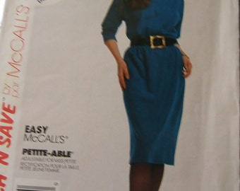 McCalls 4446 uncut vintage sewing pattern size 14, 16 and 18 comfortable dress