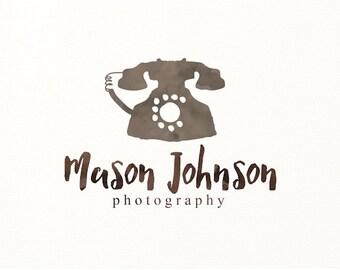 telephone logo watercolor premade logo - Logo Design #316