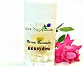 All Natural Deodorant Honeydew Melon- Homemade Organic deodorant Stick - Handmade TeaTree Oil Deodorant - Coconut Oil Deodorant