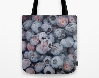 Blueberries 3 Photo Tote Bag, Food Tote, Grocery Tote, Reusable Tote, Market Tote, Food Photography