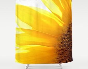 Sunflower 2 Shower Curtain, Bathroom Decor, Bath Curtain, Photo Art, Photography, Flower Photography, Garden