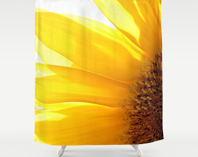 Sunflower 2 Shower Curtain, Bathroom Decor, Bath Curtain, Photo Art, Photography, Flower Photography, Garden