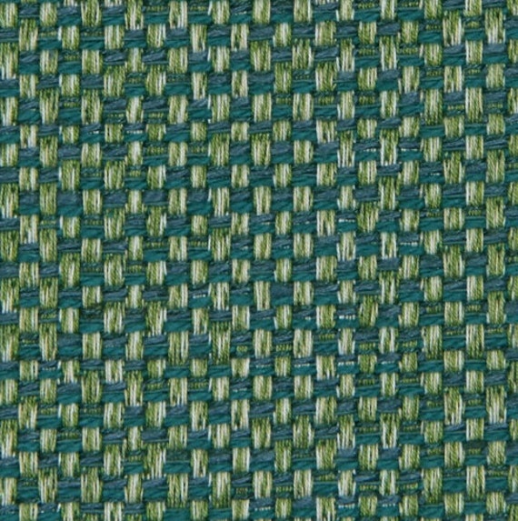 Teal Tweed Upholstery Fabric Textured Teal Throw Pillow - Designer upholstery fabric teal