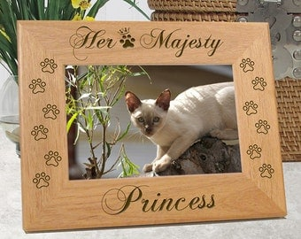 Her Majesty Cat Picture Frame