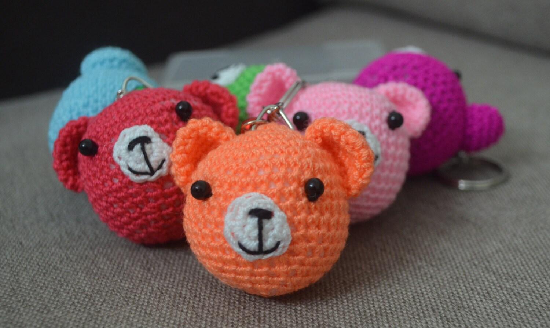 5pcs Teddy Bear Amigurumi Keychain Plush by BabesCreation ...