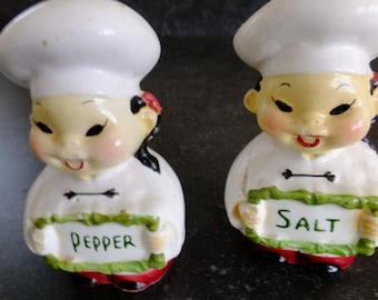 Vintage Cook/ Baker Salt & Pepper Shakers