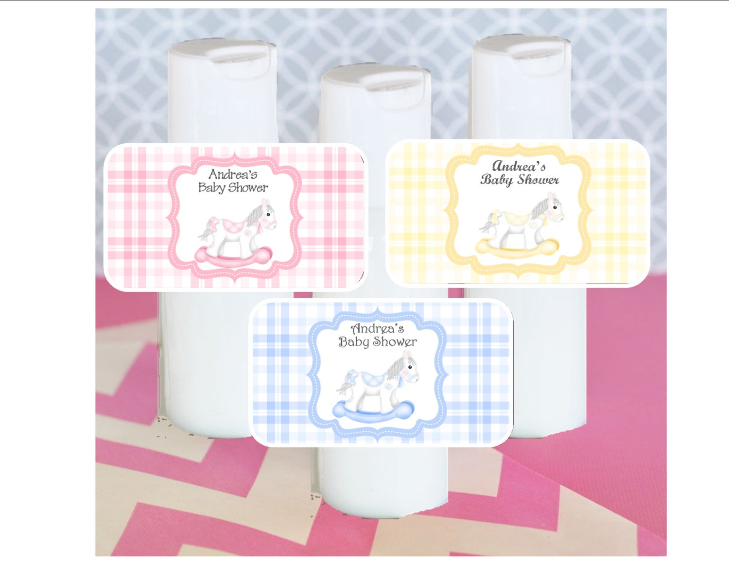 Baby Shower Favors Hand Lotion ~ Hand lotion baby shower favor rocking horse theme