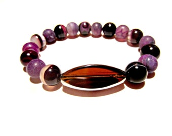 Women's Beaded Bracelet. Agate Bead Bracelet. Bead Bracelets for Women. Beaded Bracelets. Stretch Bracelet. Jewelry For Women.