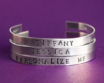 Custom Bracelet, Name Jewelry, Bridesmaid Gifts, Maid of Honor Name Bracelet, Personalize your Jewelry, Customized Personalize Set