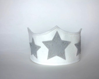 White and Silver Birthday Crown