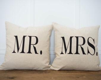 Mr & Mrs. Pillow Cover Set