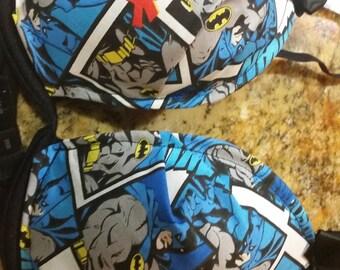 Set of DC comics Batman inspired Bra and Thong