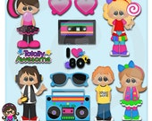 2015 Totally 80's  Clip art  Clipart Graphics  Commercial Use