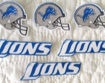 """Detroit Lions """"NO SEW"""" Appliques"""