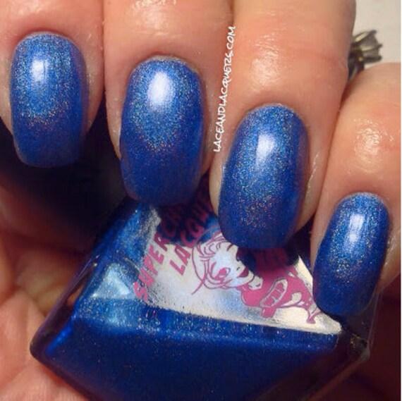 Neon Blue Nail Polish: Tripped Nail Polish Blue Periwinkle Neon Chrome Linear Holo