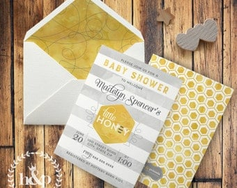 Little Honey Bee Baby Shower Invitation