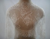 Light Ivory Chantilly Lace Trim, Lace Trim, Bridal Trimming, Wedding Trim G38-510