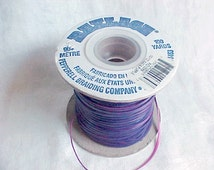Rexlace Plastic Lacing - Royal Purple and Fuchsia Pink - 1/8 inch wide - Bi-Color Flat Plastic Cord - Lanyard Lacing - Made in USA