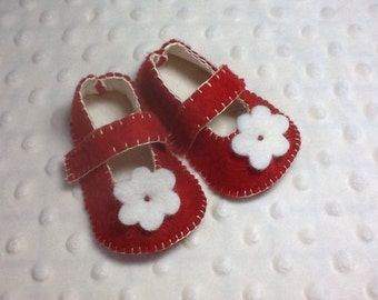 Red Mary Jane baby girl shoes