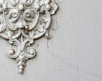 France Photography. White Provence Door Knocker. White Door. Wall Art. French Door Knocker. French Decor. French Home Decor. Provence