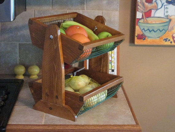 Countertop Vegetable Bin : Countertop fruit and vegetable bin, 2 tier