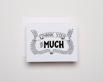 Thank You So Much - Thank You Card