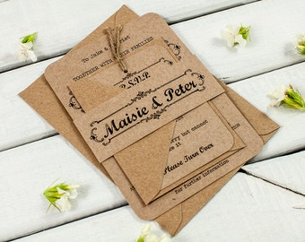 Kraft Wedding Invitations is best invitation ideas