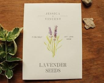 Seed Envelopes Lavender Favor