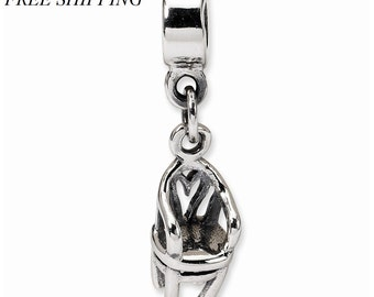 Sterling Silver Kids Chair Dangle Bead