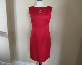 Re Hot Satin Sheath Dress