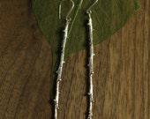 Bayberry Twig Earrings in Sterling Silver