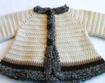 Crocheted Baby Girl's Sweater Baby Jacket Crocheted Baby Jacket Baby Girl's Crocheted Sweater