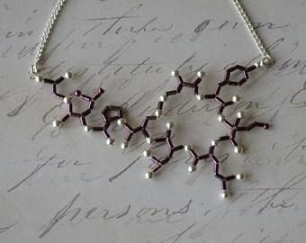 Biolojewelry -Plum Oxytocin Statement Necklace