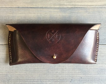 Leather Sunglass Case in Dark Brown