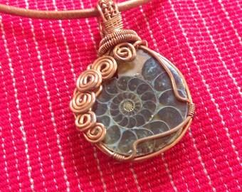 Amonite necklace
