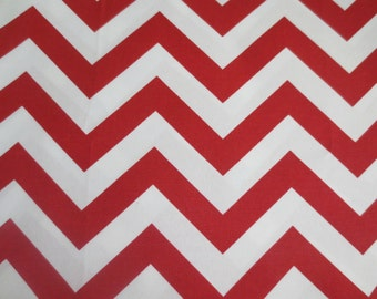 OUTDOOR Pillow Cover Red and White Chevron