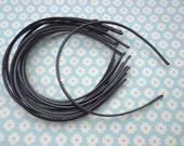 SALE--20 pcs black color plastic Headband 4mm Wide