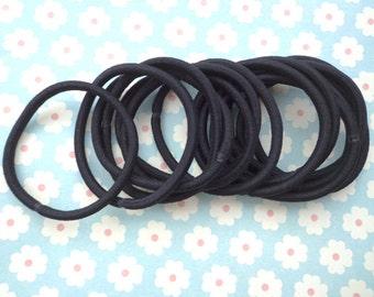 50 pcs Hair elastics,black ponytail elastics,ponytail holders,pigtail holders