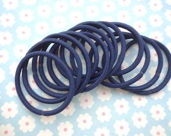 50 pcs Hair elastics,dark blue  ponytail elastics,ponytail holders,pigtail holders