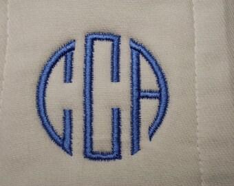 Cirle Monogram Burp Cloth