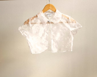 90s FLORAL twin peaks crop top melrose place SHIRT