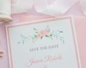 Save the Date Cards- Spring Save the Dates- Spring Wedding -Wedding Paper Goods-Party Invitations- Spring Bridal Shower-Set of 50